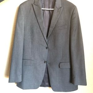 Alfani Two-Piece Charcoal Gray Suit